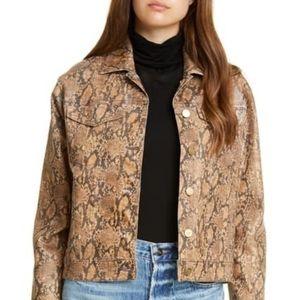NEW Frame Vintage Style Phyton Print Jacket
